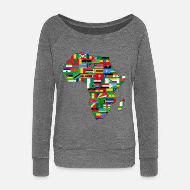 Africa africa collection - Women's Boat Neck Long Sleeve Top
