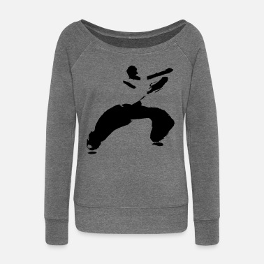 Kung Fu kung fu - Women's Boat Neck Long Sleeve Top
