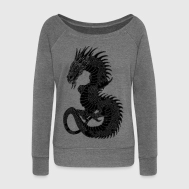dragon - Women's Boat Neck Long Sleeve Top