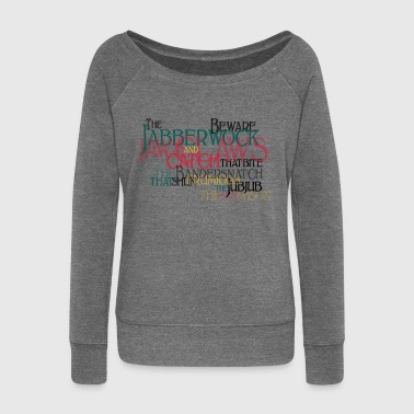 Typo Shirt - Carrol: Jabberwocky Kids' Shirts - Women's Boat Neck Long Sleeve Top