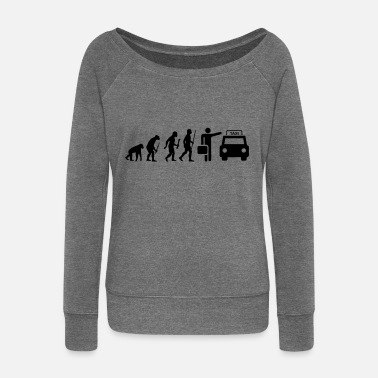 Evolution Taxi Driver Taxi driver - Women's Boat Neck Long Sleeve Top