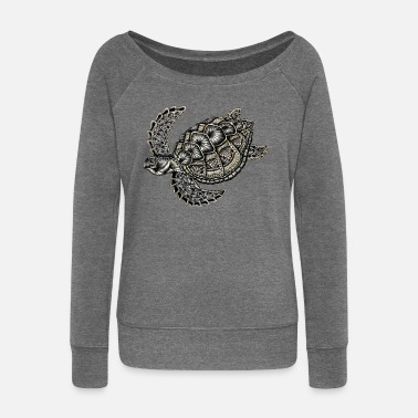 Turtle turtle - Women's Boat Neck Long Sleeve Top