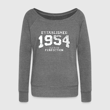 Established established 1954 - aged to perfection (nl) - Vrouwen trui met U-hals van Bella