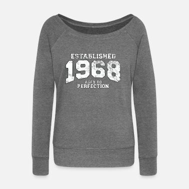 1968 established 1968 - aged to perfection (it) - Felpa con scollo a barca da donna, marca Bella