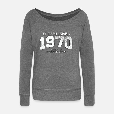 1970 established 1970 - aged to perfection (uk) - Women's Boat Neck Long Sleeve Top