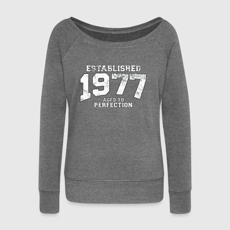 established 1977 - aged to perfection (uk) - Women's Boat Neck Long Sleeve Top