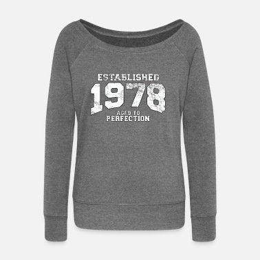 1978 established 1978 - aged to perfection (uk) - Women's Boat Neck Long Sleeve Top
