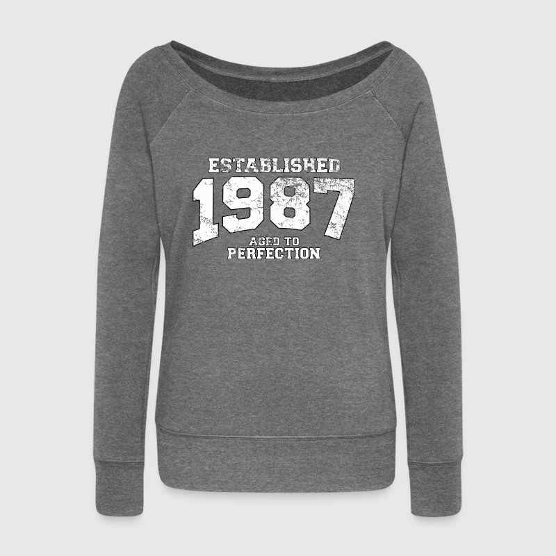 established 1987 - aged to perfection (uk) - Women's Boat Neck Long Sleeve Top