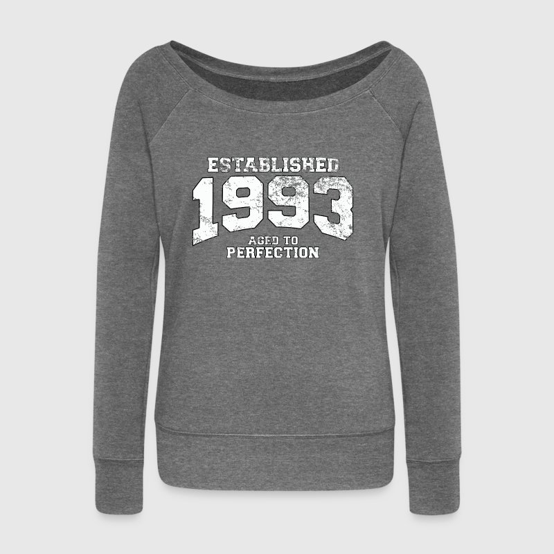 established 1993 - aged to perfection (uk) - Women's Boat Neck Long Sleeve Top
