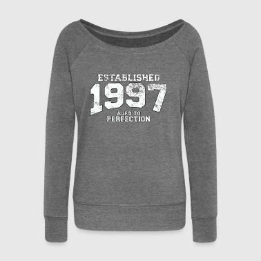 established 1997 - aged to perfection (uk) - Women's Boat Neck Long Sleeve Top