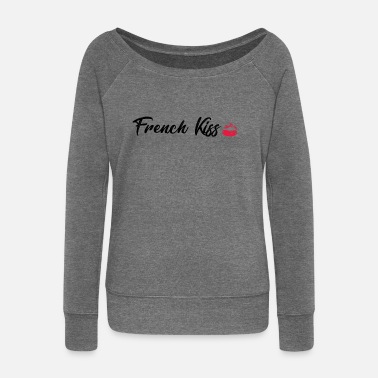French Kiss French Kiss - Women's Boat Neck Long Sleeve Top