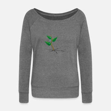 Plant Grounds plant - Women's Boat Neck Long Sleeve Top