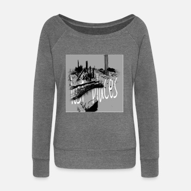 Lost Place lost places - Women's Wide-Neck Sweatshirt
