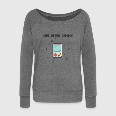 Retro Gaming Game Retro Games Console - Women's Boat Neck Long Sleeve Top