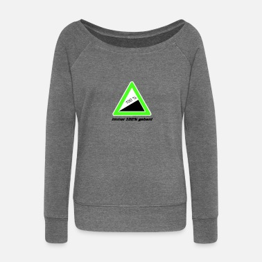 slope sign - Women's Boat Neck Long Sleeve Top