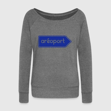 Airport Airport Airport - Customizable - Women's Boat Neck Long Sleeve Top