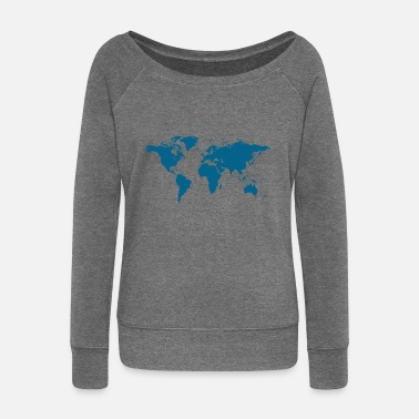 Map map - Women's Boat Neck Long Sleeve Top