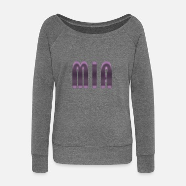 Birth Name Name Mia First name Name day Birth Gift idea - Women's Boat Neck Long Sleeve Top