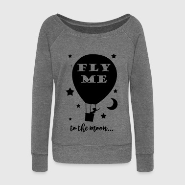Fly me to the Moon - Pull Femme col bateau de Bella