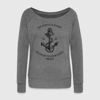 Northern Heart - Women's Boat Neck Long Sleeve Top