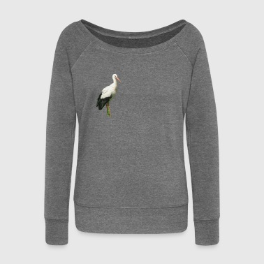 Boat stork - Women's Boat Neck Long Sleeve Top