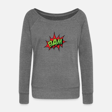 Comic Strips Comic Comicstyle Comic Strip BAM - Women's Boat Neck Long Sleeve Top