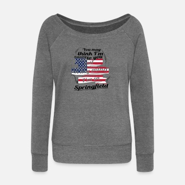 Springfield THERAPY HOLIDAY AMERICA USA TRAVEL Springfield - Women's Boat Neck Long Sleeve Top