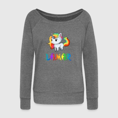 Unicorn Lamar - Women's Boat Neck Long Sleeve Top