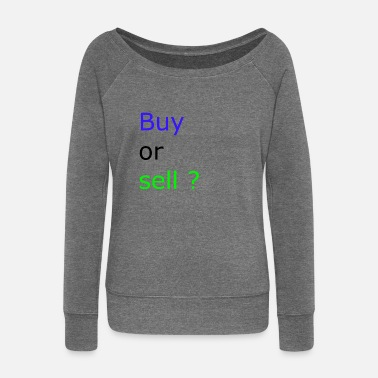 Sell Buy or Sell - Women's Boat Neck Long Sleeve Top