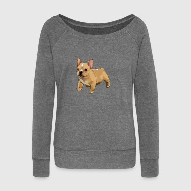 Bulldog French bulldog - Women's Boat Neck Long Sleeve Top