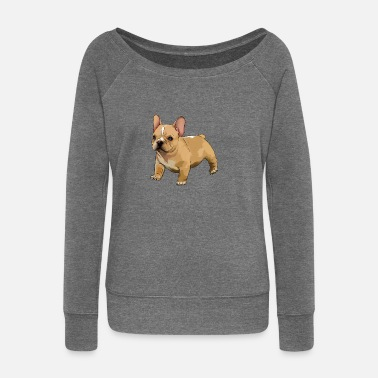 French French bulldog - Women's Boat Neck Long Sleeve Top