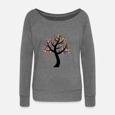 Hindu YOGA BUDDHA NATURE TREE MEDITATION GIFT T-SHIRT - Women's Boat Neck Long Sleeve Top
