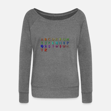 Abc ABC - Women's Wide-Neck Sweatshirt