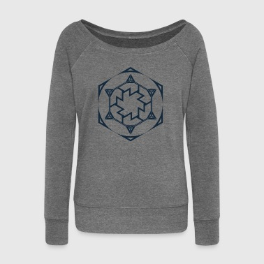 Antahkarana, Sacred Geometry - Women's Boat Neck Long Sleeve Top