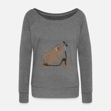 Sloth sloth - Women's Boat Neck Long Sleeve Top