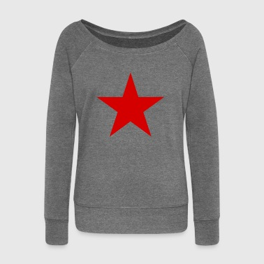 Red Star Star red, red star - Women's Boat Neck Long Sleeve Top