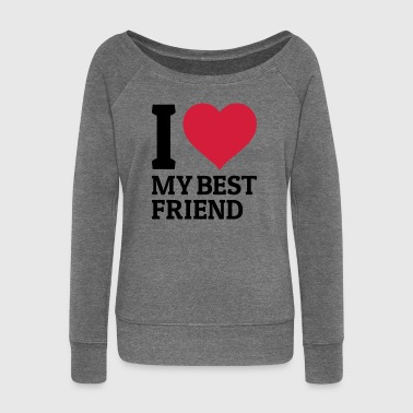 Bff I love my best friend - Pull Femme col bateau de Bella