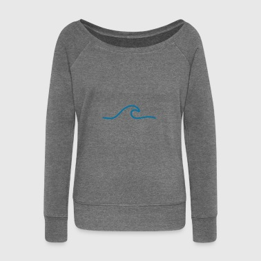 Wave Wave / wave - Women's Boat Neck Long Sleeve Top