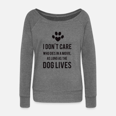 Lover Dogs - Women's Boat Neck Long Sleeve Top
