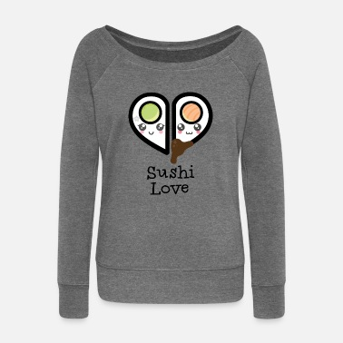 Sushi love - Women's Boat Neck Long Sleeve Top