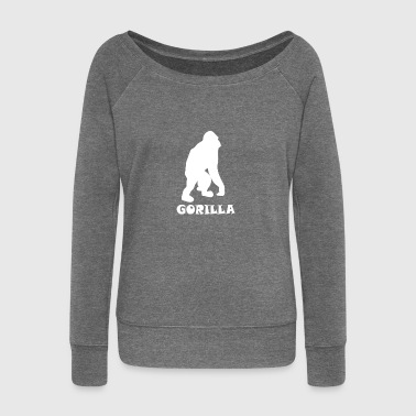 Gorilla gorilla - Women's Boat Neck Long Sleeve Top