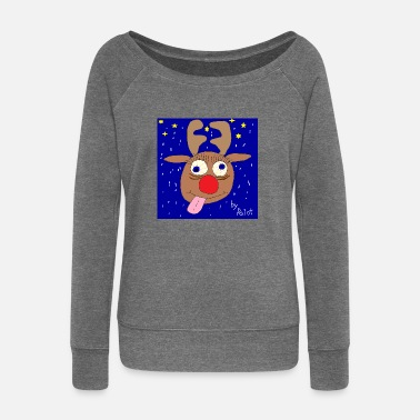 Rudolph Rudolph - Women's Boat Neck Long Sleeve Top