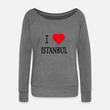 I Love Istanbul I Love Istanbul - Women's Boat Neck Long Sleeve Top