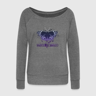 Butterfly effect - butterfly effect - Women's Boat Neck Long Sleeve Top