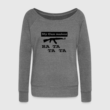 Assault Rifle Assault rifle - Women's Boat Neck Long Sleeve Top