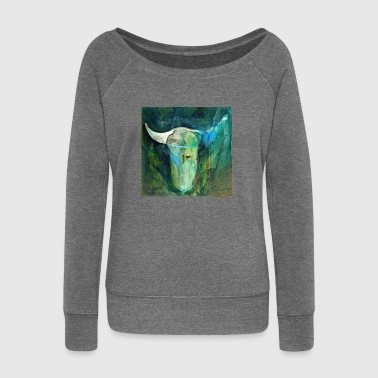 Bull Series - Women's Boat Neck Long Sleeve Top