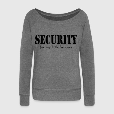Security for my little Brother - Pull Femme col bateau de Bella