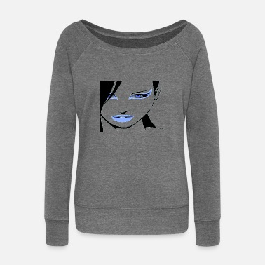 Clothing clothes - Women's Wide-Neck Sweatshirt