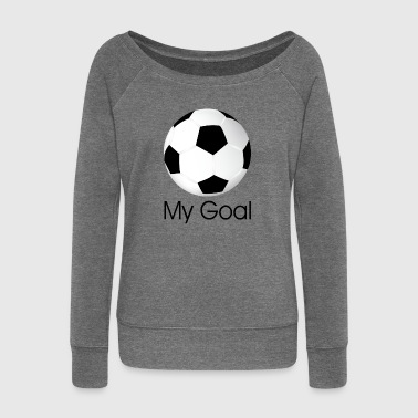 soccer ball - Women's Boat Neck Long Sleeve Top