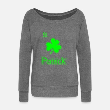 Saint Patrick Shamrock - Women's Boat Neck Long Sleeve Top